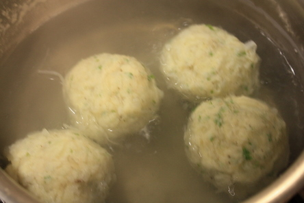 Potato Knödel (Using half raw and half cooked potatos and wrapped ...