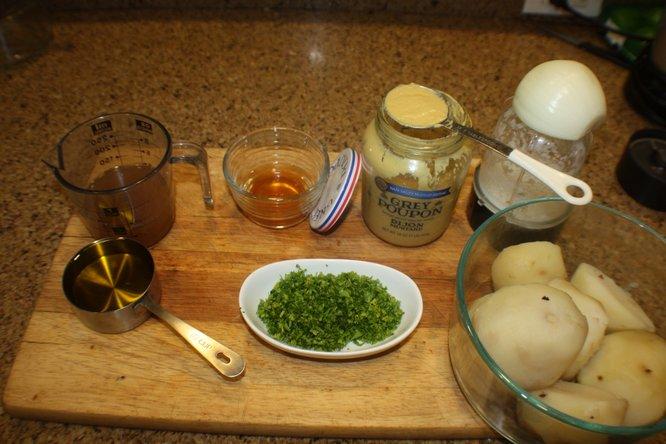 Cut Potatoes For German Potato Salad In A Food Processor