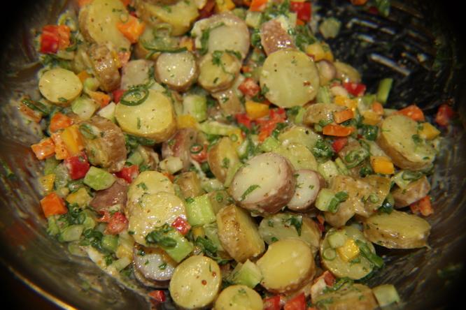 Cold German Fingerling Potato Salad